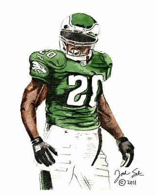Philadelphia Eagles Brian Dawkins #20 Poster by Jordan Spector