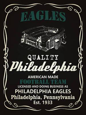 Philadelphia Eagles Whiskey Poster
