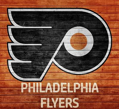 Philadelphia Flyers Barn Door Poster by Dan Sproul