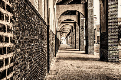 Philadelphia - Franklin Field Archway In Sepia Poster by Bill Cannon