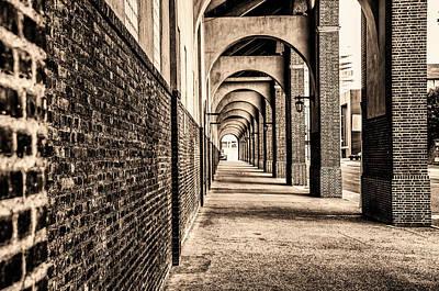 Philadelphia - Franklin Field Archway In Sepia Poster