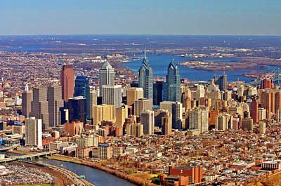 Philadelphia From Schyulkill To Delaware Poster by Duncan Pearson