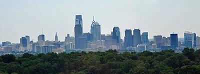 Philadelphia Green Skyline Poster