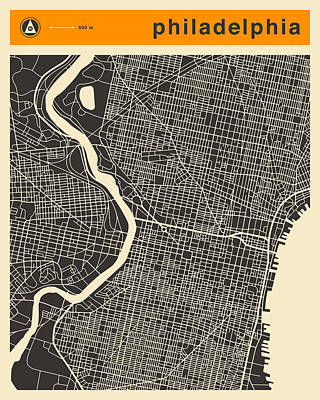 Philadelphia Map Poster by Jazzberry Blue