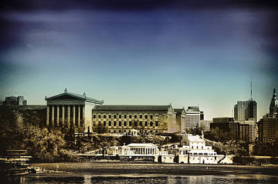 Philadelphia Museum Of Art And The Fairmount Waterworks From West River Drive Poster by Bill Cannon