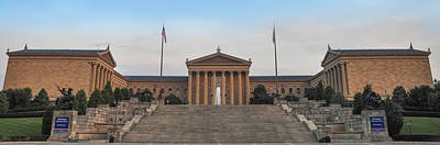 Philadelphia Museum Of Art Panorama Poster by Bill Cannon