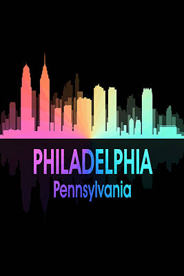 Philadelphia Pa 5 Vertical Poster by Angelina Vick