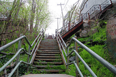 Poster featuring the photograph Philadelphia - Roxborough Avenue Steps by Bill Cannon