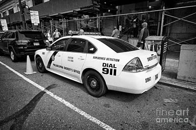 Philadelphia Sheriffs Office Chevy Impala Police Cruiser K-9 Unit Explosives Detection Vehicle Usa Poster