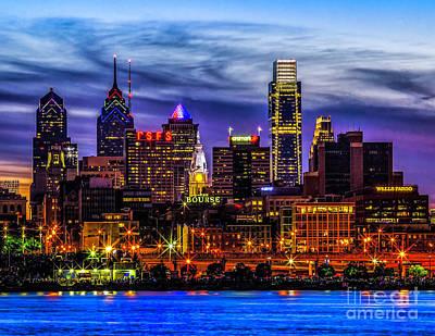 Poster featuring the photograph Philadelphia Skyline by Nick Zelinsky