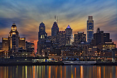 Philadelphia Skyline Poster by Susan Candelario