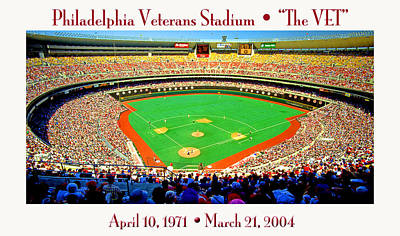 Philadelphia Veterans Stadium The Vet Poster