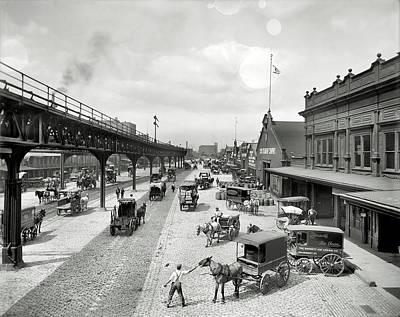 Philadelphia Waterfront  1908 Poster by Daniel Hagerman