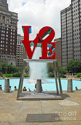 Philadelphia's Love Park Poster by Cindy Manero