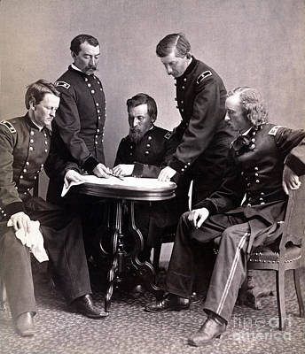 Philip Sheridan And His Generals, 1865 Poster by Science Source