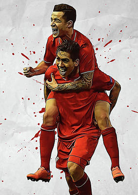 Philippe Coutinho Roberto Firmino  Poster