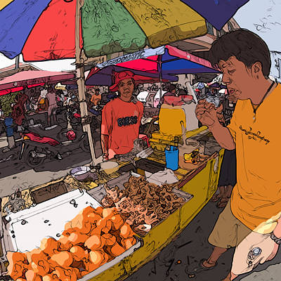 Philippines 1299 Street Food Poster