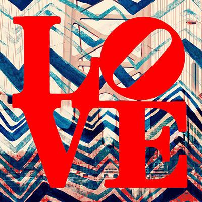 Philly Love V17 Poster by Brandi Fitzgerald