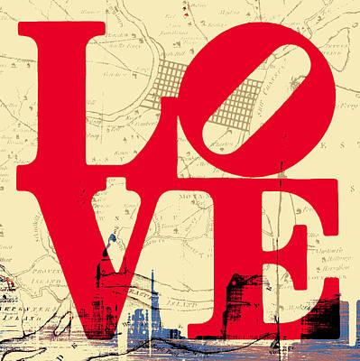 Philly Love V3 Poster by Brandi Fitzgerald