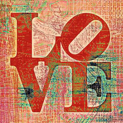 Philly Love V7 Poster by Brandi Fitzgerald