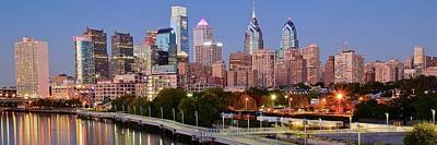 Philly Panoramic Poster by Frozen in Time Fine Art Photography