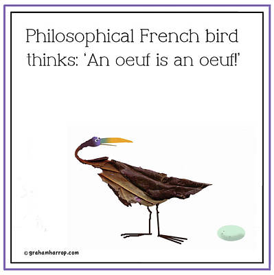 Philosophical Bird Poster
