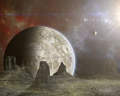 Phobos Poster by Mark Allen