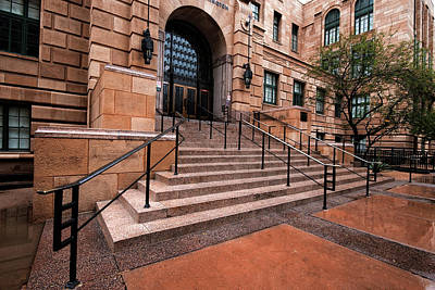 Poster featuring the photograph Phoenix Arizona Courthouse by Dave Dilli