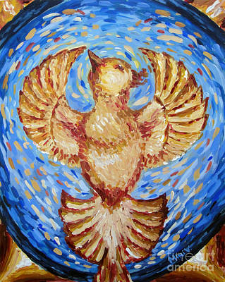 Poster featuring the painting Phoenix by Maria Langgle