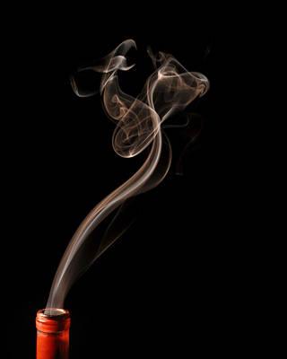 Phoenix Rising In Smoke Poster by Bryan Steffy