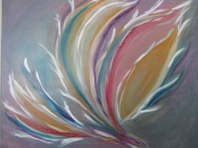 Poster featuring the painting Phoenix Rising by Sharyn Winters