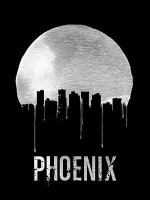 Phoenix Skyline Black Poster