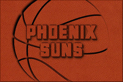 Phoenix Suns Leather Art Poster