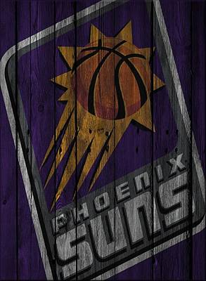 Phoenix Suns Wood Fence Poster by Joe Hamilton