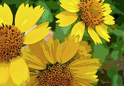Yellow Wildflowers Photograph II Poster