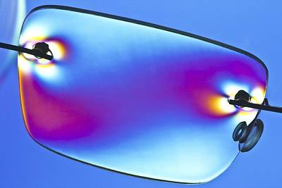 Photoelastic Stress Of Plastic Glasses Poster by Pasieka