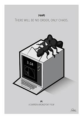 Pi Movie Cube Poster by Mirta Rotondo