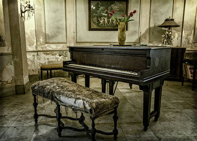 Poster featuring the photograph Piano At Josie's House by Joan Carroll