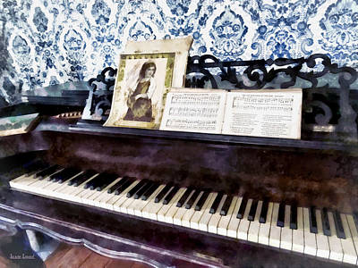Piano Closeup Poster by Susan Savad
