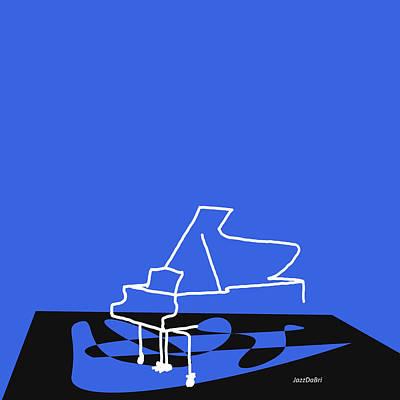 Piano In Blue Poster by David Bridburg
