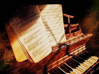 Piano Sheet Music Poster