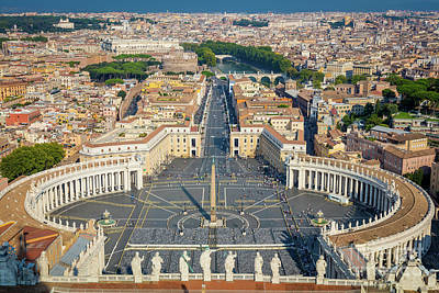 Piazza San Pietro Poster by Inge Johnsson