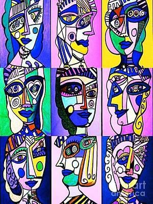 Picasso Blue Women Poster by Sandra Silberzweig