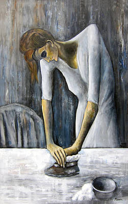 Picasso's Woman Ironing Poster