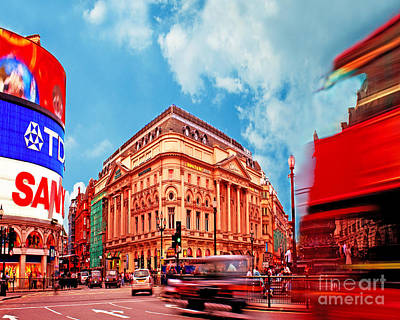 Piccadilly Circus London Poster by Chris Smith