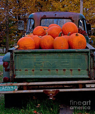 Pickup My Pumpkins Poster