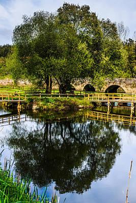 Picnic Area In The Marnel River V Poster