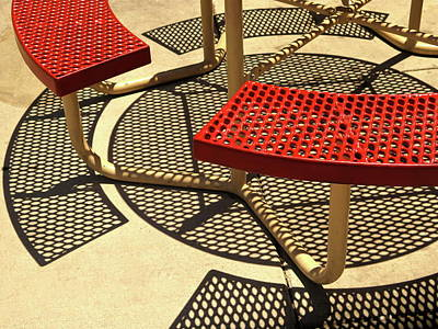 Picnic Bench Abstract 1 Poster by Bonnie See