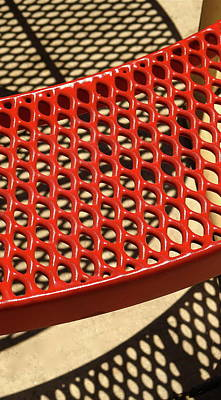 Picnic Bench Abstract 2 Poster by Bonnie See