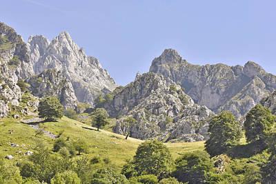 Picos De Europa Mountains Poster